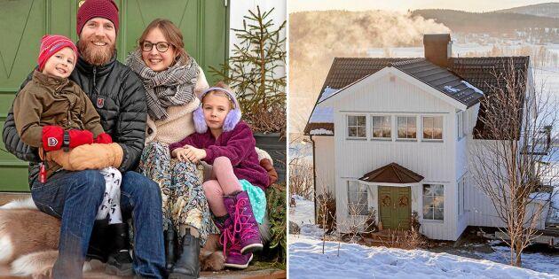 Familjen Sundin firar jul utan stress i den fina släktgården i Åsliden