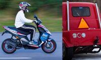 A-traktor och moped i krock – en till sjukhus