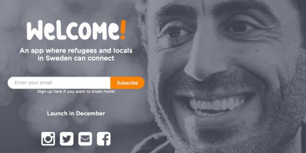 Ny app ska sammanföra svenskar och flyktingar