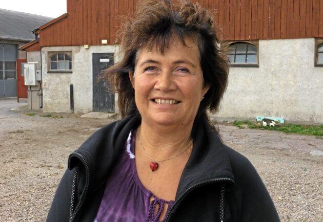 Mjölkbonden Anna-Kajsa Arnesson från Hagby på Öland
