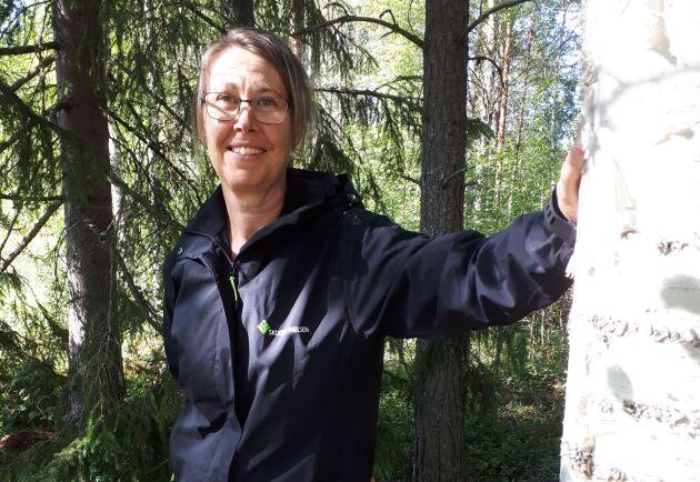 Maria Nilsson gillar sitt jobb som skogskonsulent. Att det är väldigt omväxlande är både styrkan och en av de få nackdelarna.