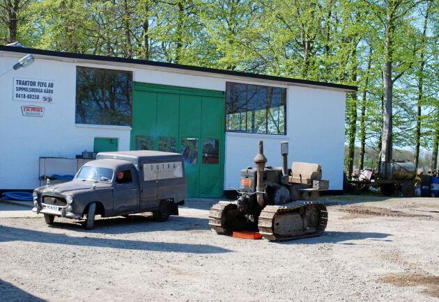 Vid serviceverkstaden på Simmelsberga.