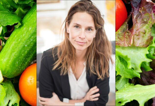 Sydgrönts nytillträdda vd Sara Berger, tror på fortsatt tillväxt och ökande efterfrågan på svenska grönsaker.