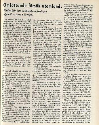 Antibiotikadebatten startade med ett inlägg av Carl Gustaf von Hofsten i Lantmannens nummer 44 1953.