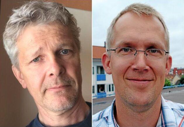 Anders Pettersson, förvaltare för Västerbottens allmänningsskogar och Magnus Norberg som är jurist på LRF Konsult och driver målen om fjällnära skog.
