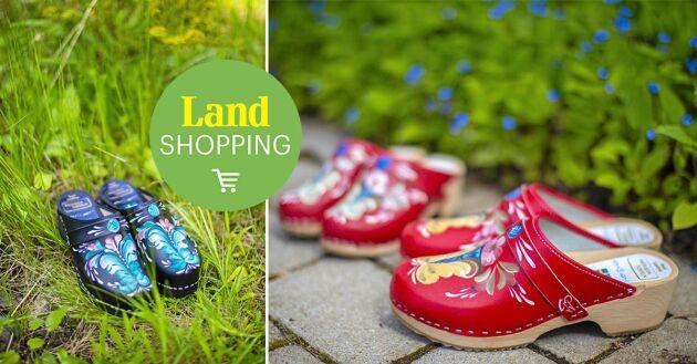 Vackra smycken. Köp Gund handmålade träskor i Land Shopping.