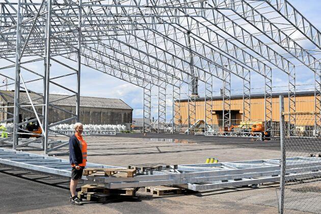 Svenska Foder, där Anki Fransson arbetar, bygger ny lagringskapacitet i Landskrona hamn.