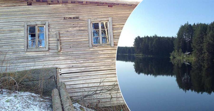 Ladugården som bortskänkes ligger intill Faxälven.