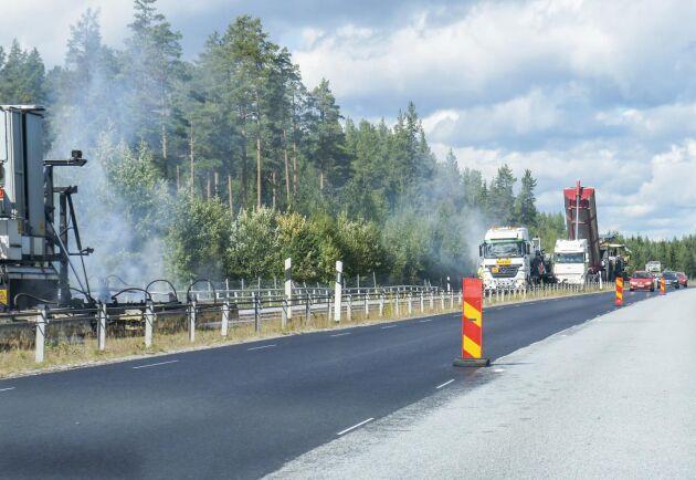 Motormännen har mätt hur jämna och platta vägarna i Sverige är. Arkivbild från E4:an mellan Söderhamn och Hudiksvall.