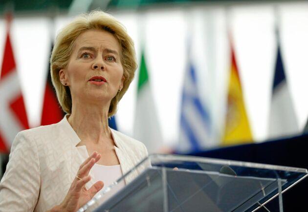 Ursula von der Leyen är blivande ordförande för EU-kommissionen.