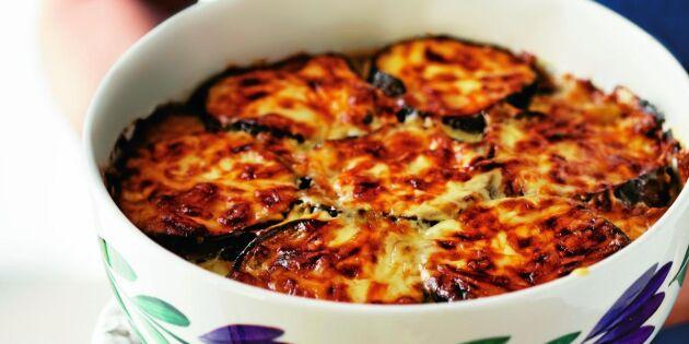 Snabb och supergod auberginegratäng – så gör du allt i ett-favoriten