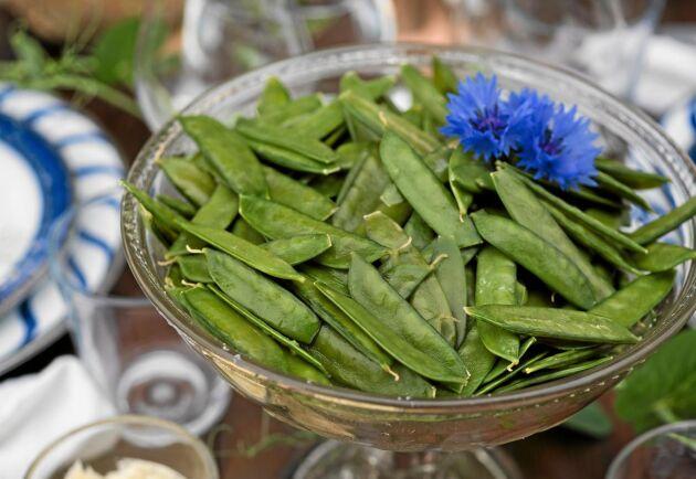 Ett grönt snack att ställa fram för alla att smaka på middagsbordet.
