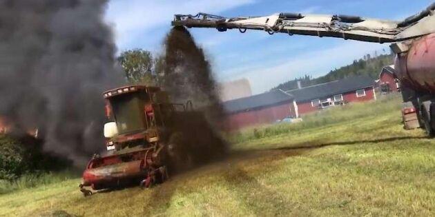 Här stoppas maskinbrand med flytgödsel