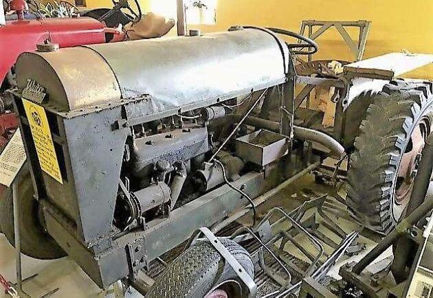 Epa-traktorerna väckte stort intresse. Här en Wuco bensinare från 1940-talet.