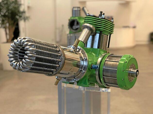 En eller flera stirlingmotorer kan seriekopplas för den som behöver mer effekt.