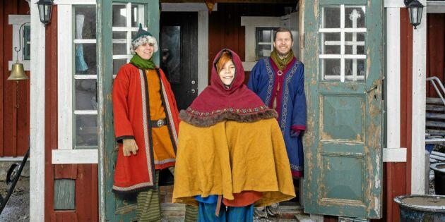 Familjen Wallman: Vi lever på vårt stora intresse för medeltiden!