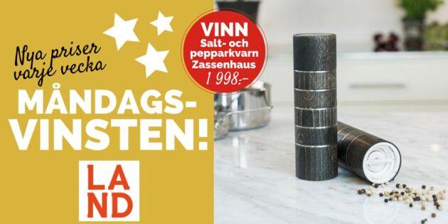 Måndagsvinsten: Vi tävlar ut salt- och pepparkvarn från Zassenhaus