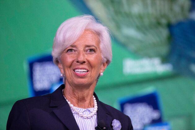 Christine Lagarde tar i november över som ny chef för Europeiska centralbanken (ECB) och ärver då en penningpolitisk utmaning med lågt inflationstryck av företrädaren Mario Draghi. Arkivbild.