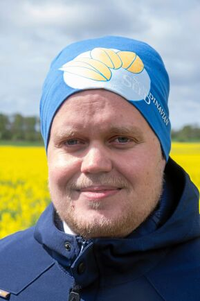 Oskar Gustafsson, agronom på Scandinavian Seed.