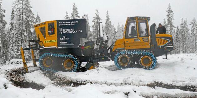 Här är nya maskinen för skogsplantering
