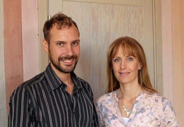 Linus Källander, ordförande Krav och Jacqueline Hellsten, som leder det EU-finansierade projektet Leader på Sörmlandskusten.