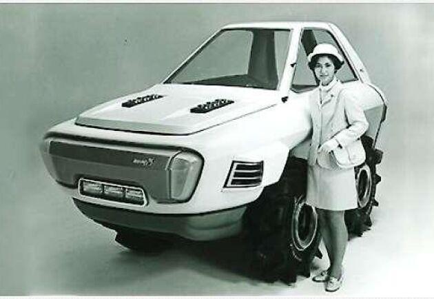 Så här såg Kubotas drömtraktor ut 1970. Likheten med många av dåtidens bilar är slående när man tittar på designen.
