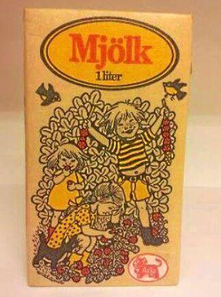 Arlas standardmjölk från 1979, illustrerad av Ilon Wikland.