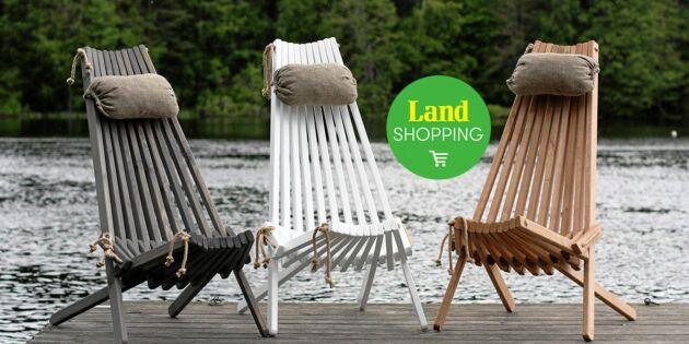 Ecochair vilstol av träspill – sitt skönt och snyggt på uteplatsen