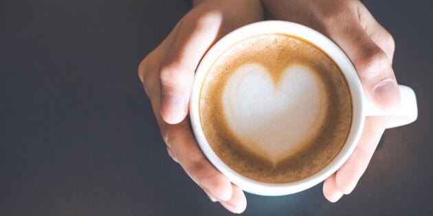Ny studie: Tre koppar kaffe om dagen skyddar hjärtat