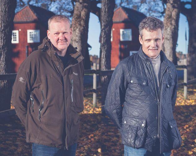 Ove Eriksson och Fredrik Larsson, två av Farmos grundare.