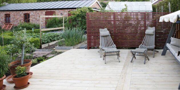 Miljövänligt trädäck i trädgården - 5 tips inför bygget