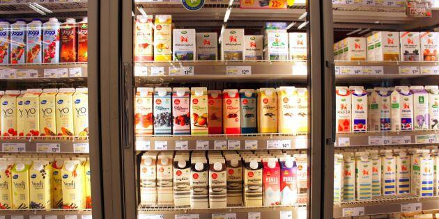 Höjt mjölkpris i butik efter torkan