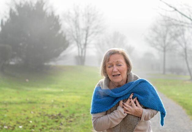En studie vid Lunds universitet visar att risken att drabbas av hjärtinfarkt ökar när det är kallt ute.