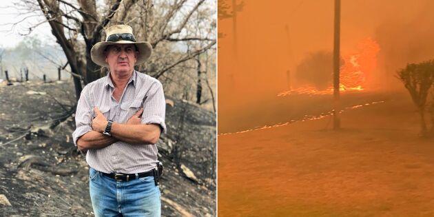 """Branddrabbade lantbrukare: """"Vi trodde inte att vi skulle överleva"""""""