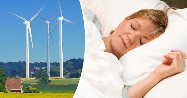 Vindkraftverkens ljud kan påverka kringboende och deras sömn, visar svensk studie.