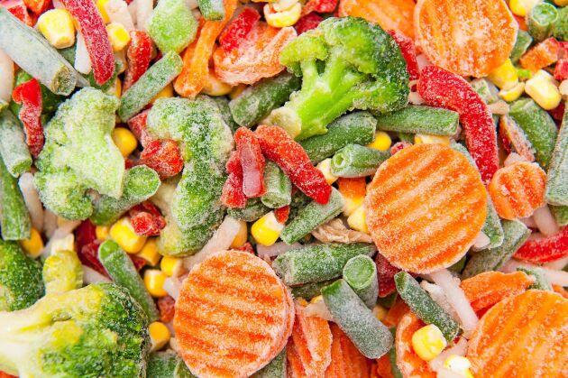 Frysta grönsaker har högt näringsinnehåll.