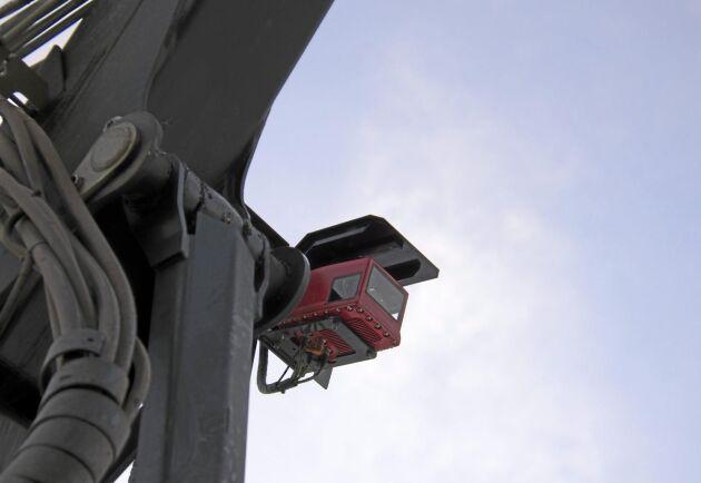 Kamerahuset består av fyra kameror som ger bra överblick. Hittills har Sofie bara behövt putsa linsen två gånger.