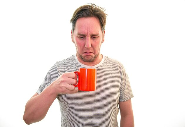 Blä! Kaffe från en igenkalkad bryggare smakar inte gott. Tur att det är så lätt att göra rent. Foto: Istock