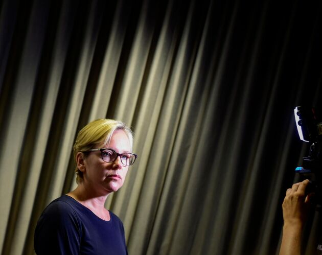 Britta Ramberg, operativ chef på Myndigheten för samhällsskydd och beredskap, under måndagens presskonferens