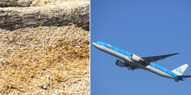 Skogsägare gynnas av biobränsle för flyg
