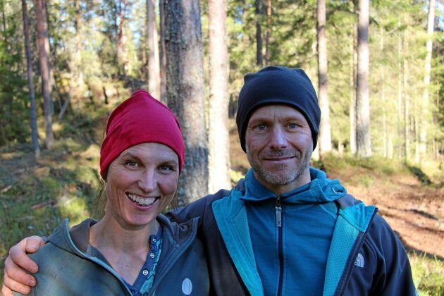 Jessica och Klas Sannö är naturturismföretagare med bas i Tiveden. – Vi vill att turisterna ska vilja vistas i ett större område än enbart i nationalparken, säger Jessica Sannö.