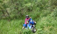 Små barn skadas ofta av fyrhjuling