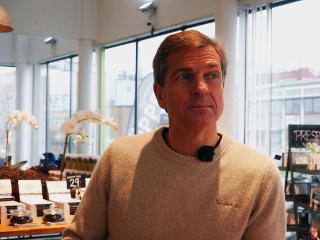 Martin Jörgensen har stora planer för sin lakritsfabrik.