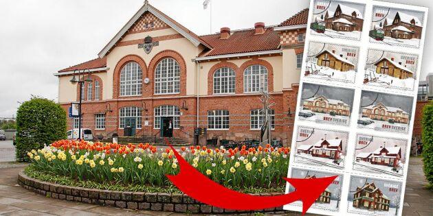 Anrika stationshus på Postnords nya frimärken
