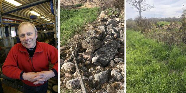 Lantbrukare får inte flytta stenar – överklagar domen