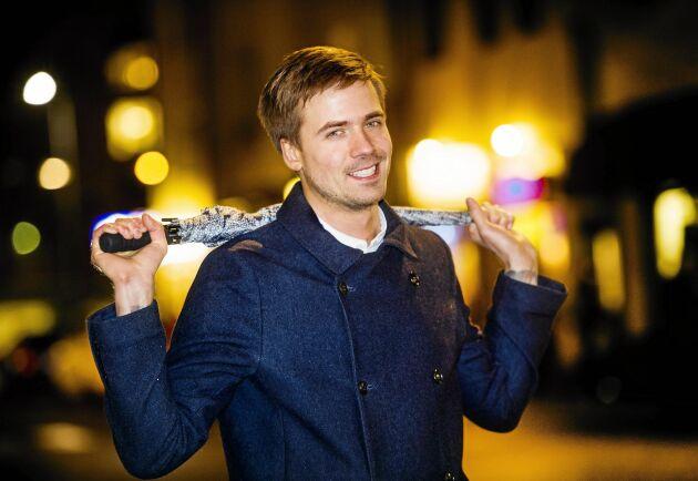 """""""Folk är alltid snälla mot mig och brukar fråga om vädret, förstås"""", säger Nils Holmqvist."""