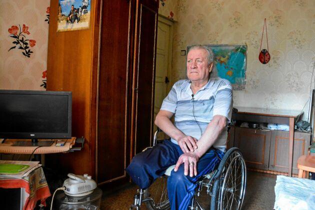 Valeriy jobbade i Tjernobyls kärnkraftverk den ödesdigra olycksnatten. Han fick amputera ett ben till följd av skadorna – och riskerar nu att förlora det andra också.