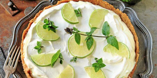 Lättlagad frusen limepaj – bästa receptet på godaste desserten