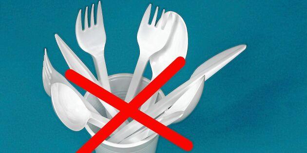EU förbjuder engångsplast –här är produkterna som försvinner