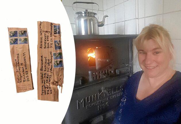 Ann Tiljann, Vedspisupproret, firar segern med kaffe på sin vedspis.